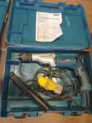 Makita HP2071F 110V 1010W 2 speed hammer drill - in box - with manual