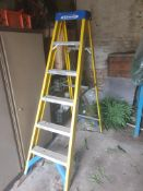 Yellow fibreglass step ladders - 5 steps