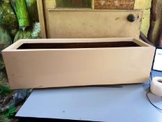 2 x Office style rectangular planter - 30 x 30 x 100cm