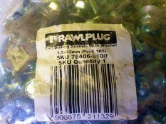 23 x bags of 100 Techscrews - 5.5 x 32mm - Rawlplug self drilling screws with washers