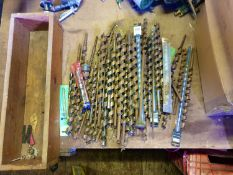 1 box of large Wood Aurger and masonry bits - used