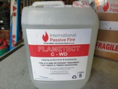 1 x 5ltr Flametech Fire and flame retardant for timber and timber derivatives - bought in Dec 2019