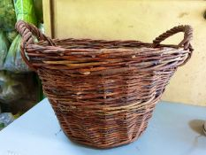 2 Wicker log baskets - used - 55 x 35cm