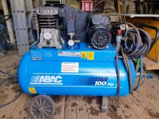 ABAC B312/100 Belt Drive Air Compressor (3HP 100 Litre) - Tyre inflation attachment