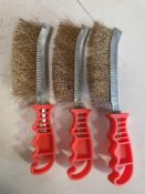 3 x weldershand held wire brush