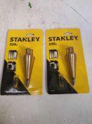 2x Stanley chalk plumb bob 225g