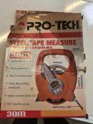Pro tec 30 m steel tape measure
