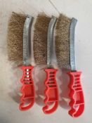 3 x welder wire brush