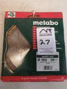 X 2 Metabo circular saw blade