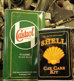 Collection of Automobilia & Petrolinia - Signs, Oil Cans, Funnels, Corgi Cars & more