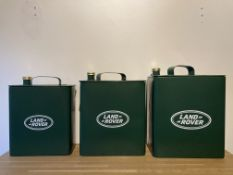 Set Of 3 Land Rover Oil Cans