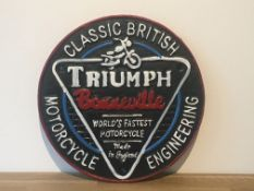 Triumph Motorcycles Cast Iron Sign