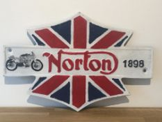 Norton Motorcycles 1898 Cast Iron Sign
