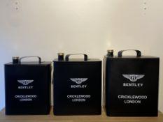Set Of 3 Bentley Oil Cans