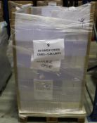 6 Pallets mix of un-used CD Cases and inner trays