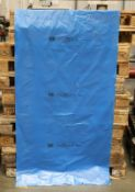 1 x Pallet of un-used XL Blue protective plastic bags