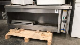 Hot Cupboard,240 V three pin plug stainless steel. Appraisal:Used