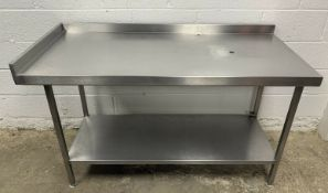 Stainless Steel Prep Table with Corner Upstand
