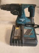 Makita 18v rotary hammer drill with charger