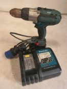Makita 18v combi drill with charger