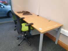 2 Person Workstation / Desks with covid screens