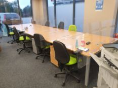 10 Person Workstation / Desks with covid screens