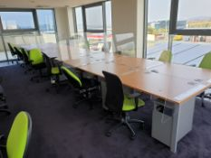 14 Person Workstation / Desks with covid screens