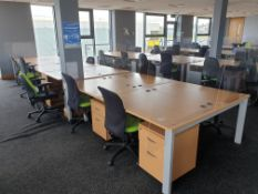 12 Person Workstation / Desks with covid screens