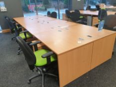 8 Person Workstation / Desks with covid screens