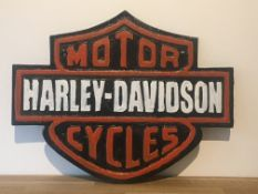 Cast Iron Harley Davidson Motorcycles Sign