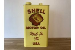 Shell Motor Oil Can