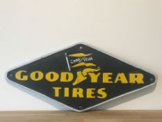 Cast Iron Good Year Tyres Sign