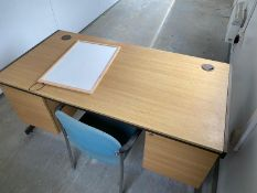 Desk Chair and Whiteboard Job Lot