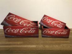 Set Of 2 Coca Cola Storage Boxes