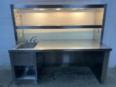 SINGLE BOWL SINK PREPARATION UNIT WITH HEATED GANTRY