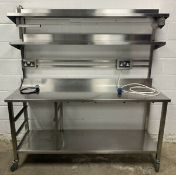 HEAVY DUTY STAINLESS STEEL PREPARATION UNIT WITH SHELVES