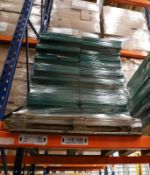 1 x Pallet of Green metal shelves