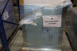 1 x Pallet of Approx 1.5k units, un-used Clear Double DVD cases.