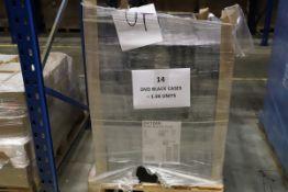 2 x Pallets of un-used DVD Black Clip Cases