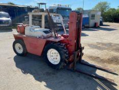 1990 Manitou 2 Ton Gas Rough Terrain Forklift