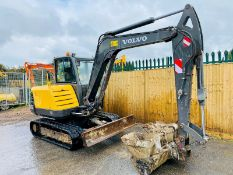 Volvo EC55C Excavator 2010. Quick Hitch