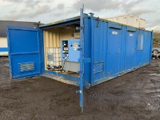 Anti Vandal Steel Portable Welfare Unit Complete With Generator 26ft x 10ft