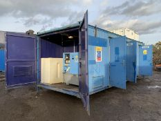 Anti Vandal Steel Portable Welfare Unit Complete With Generator 24ft x 10ft
