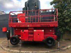 Haulotte H15SX 2007 4x4 15m Rough Terrain Diesel Scissor Lift 4x4
