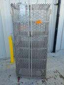 Stainless steel 6 tier lockable trolley on wheels
