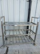 Stainless steel 3 tier shelves on wheels