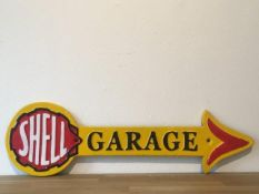 Shell Oil Cast Iron Garage Arrow Sign