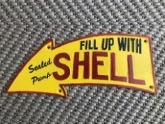 Fill Up With Shell Cast Iron Sign