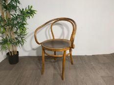 Mid Century Wooden Feature Chair