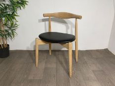Wooden Chair with Leather Paded Seat